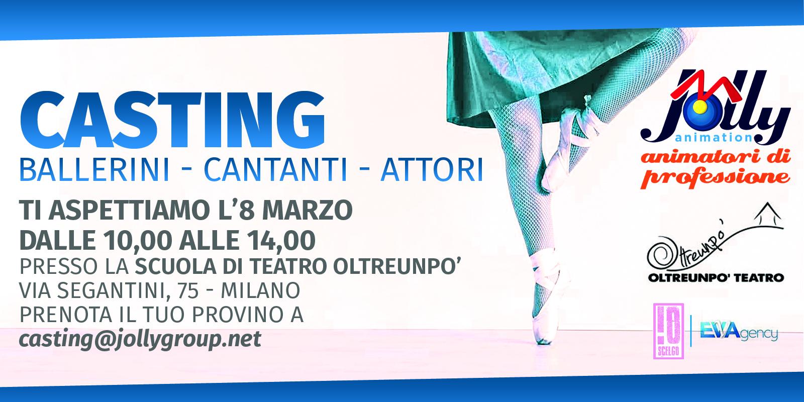 Casting ballerini  cantanti milano
