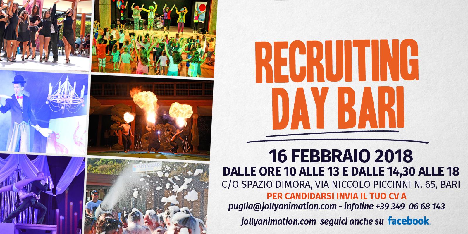 Il 16 febbraio Recruiting Day a Bari