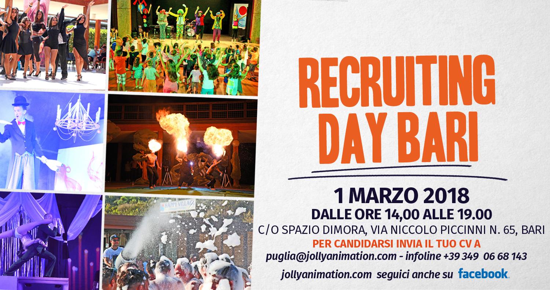 Il 1° marzo recruiting day a Bari