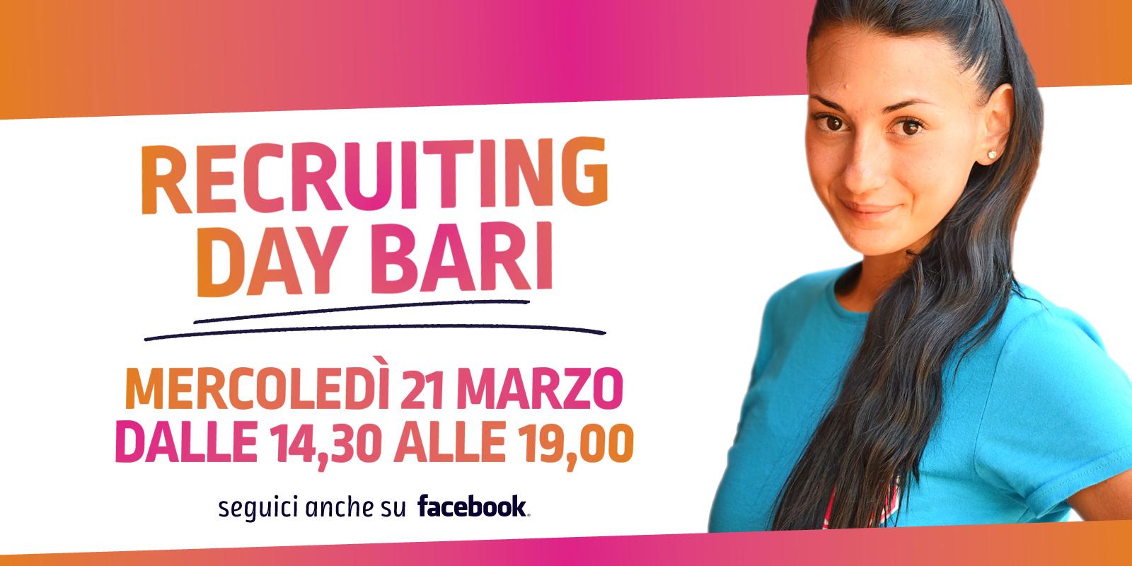 Il 21 marzo colloqui di selezione a Bari