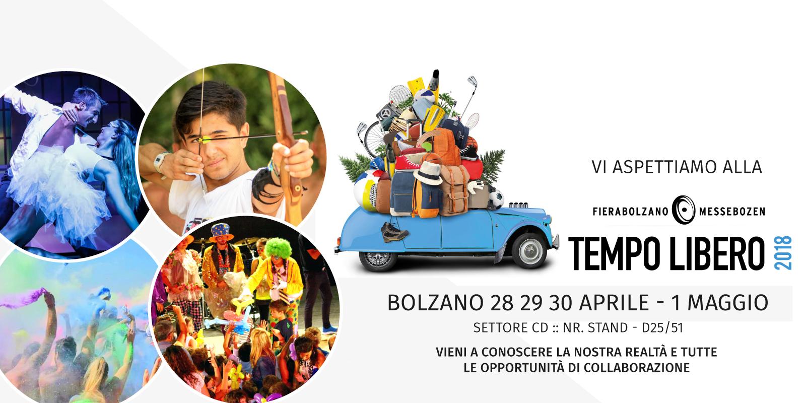 Esponiamo alla Fiera del Tempo Libero di Bolzano