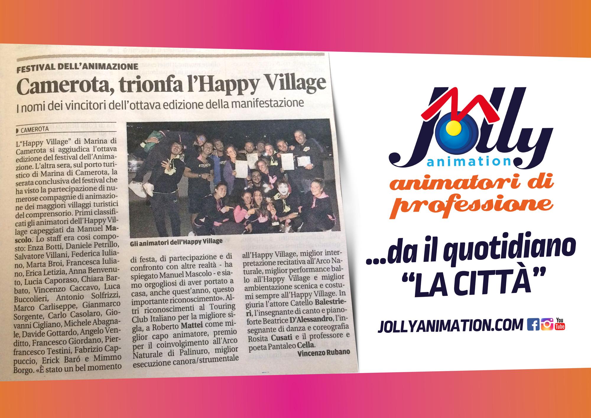 Lo Staff dell'Happy Village trionfa al Festival dell'animazione