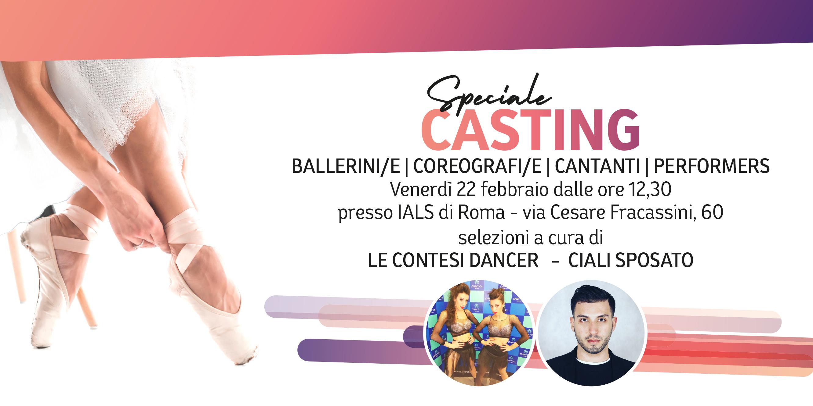Casting per ballerini e cantanti allo Ials di Roma
