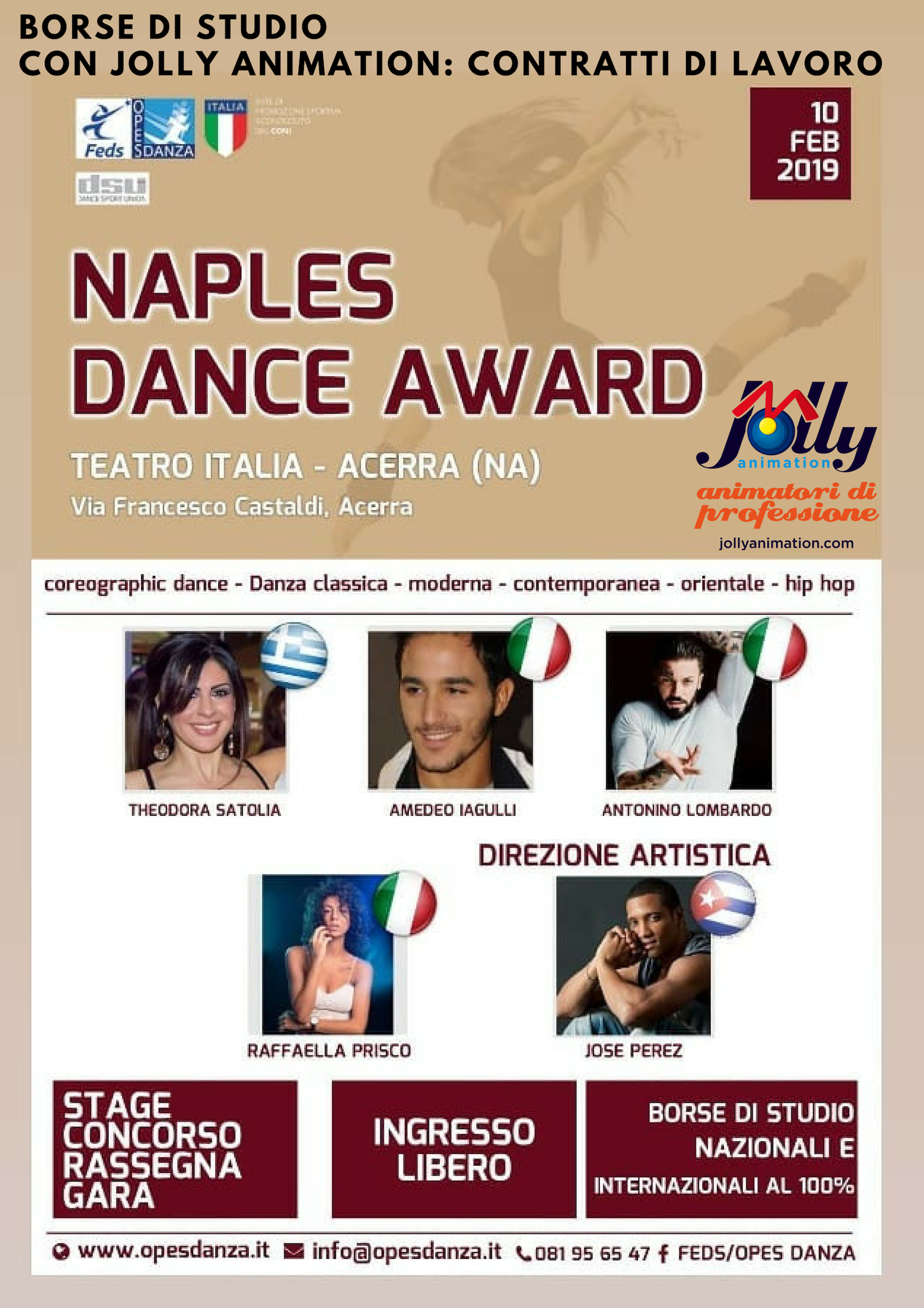 Siamo partner del Naples Dance Award