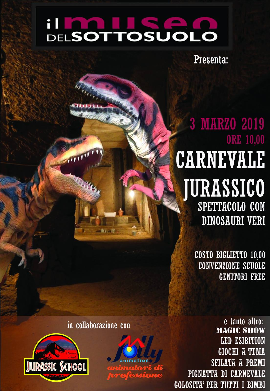 Carnevale Jurassico con Jolly Animation