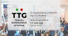 Il nostro stand al TTG di Rimini dal 9 all'11 ottobre