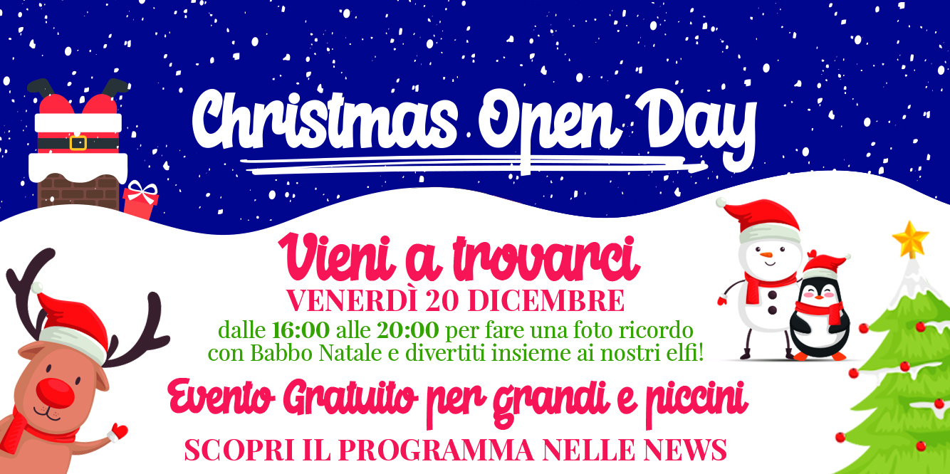 Porte aperte in Jolly, tutti all'open day del 20 dicembre