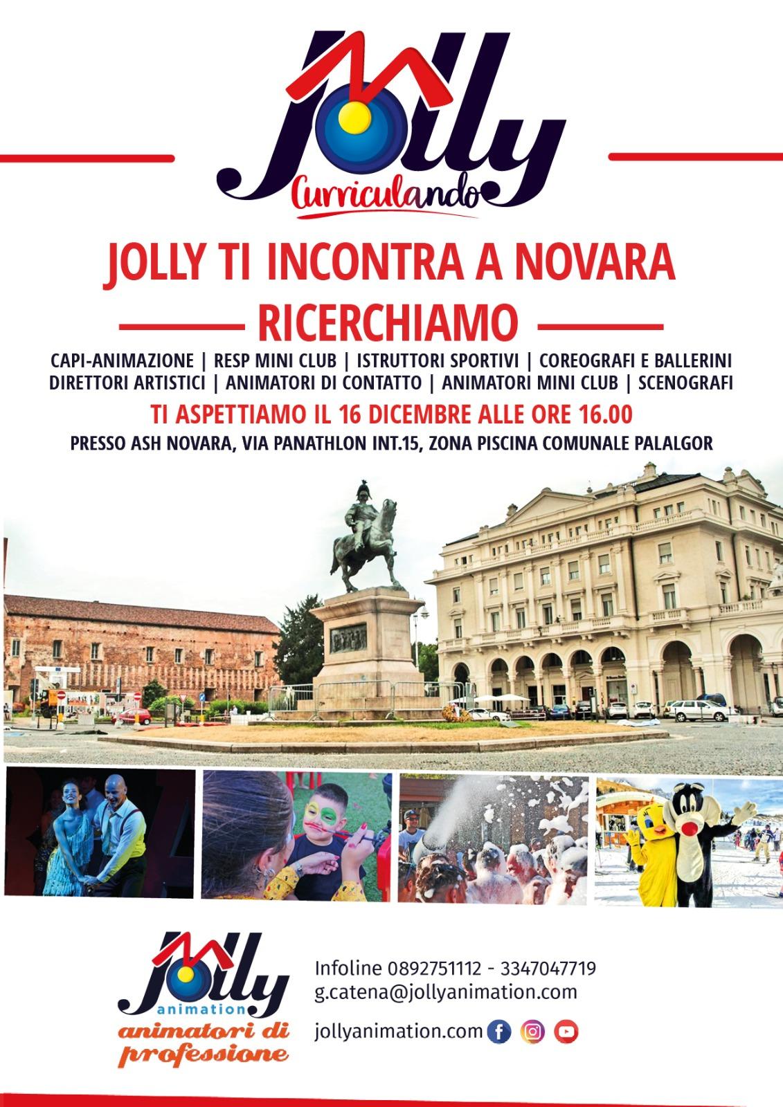Jolly in Tour, vi aspettiamo lunedì 16 dicembre a Novara