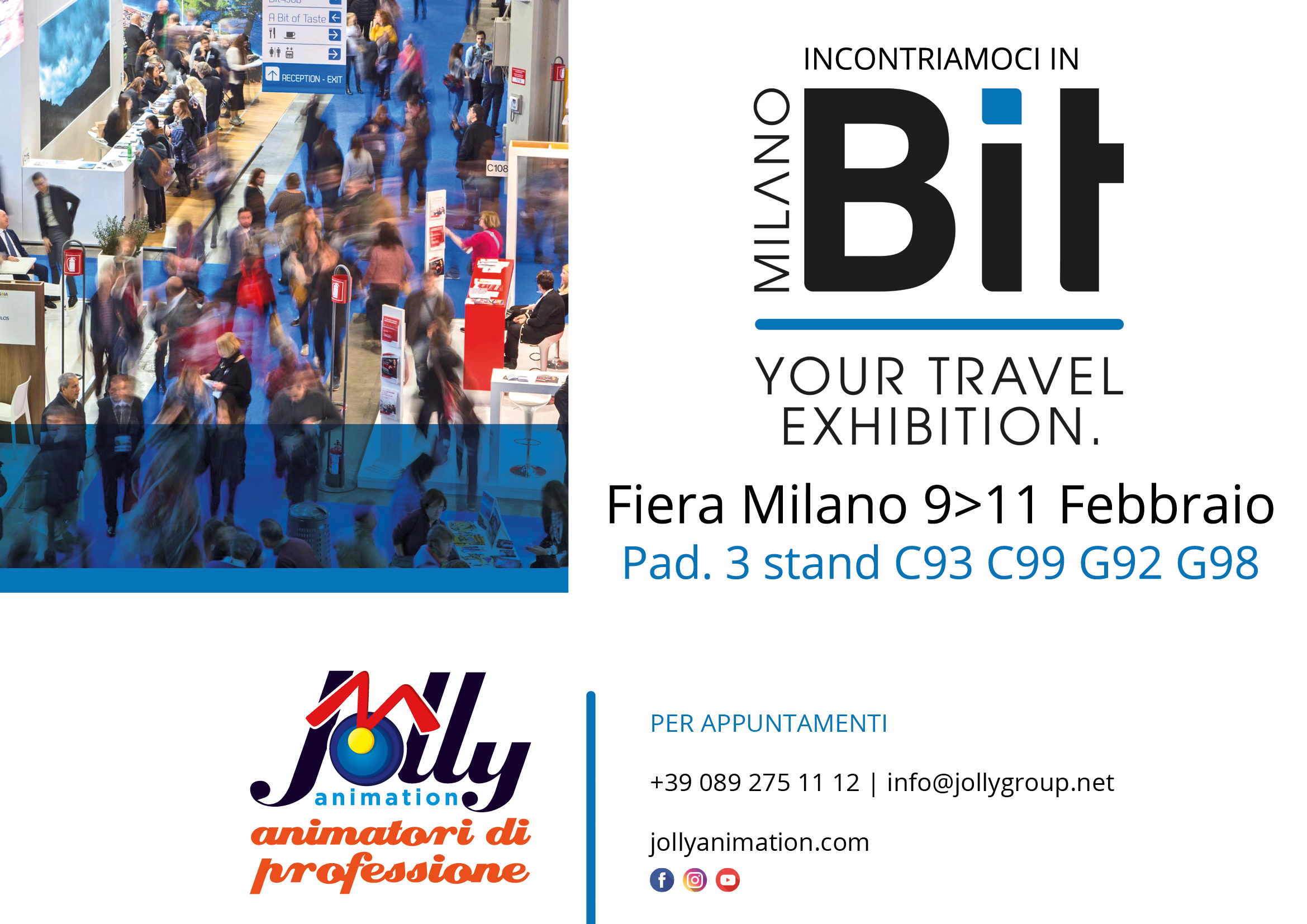 Incontriamoci in BIT a Milano dal 9 all'11 febbraio