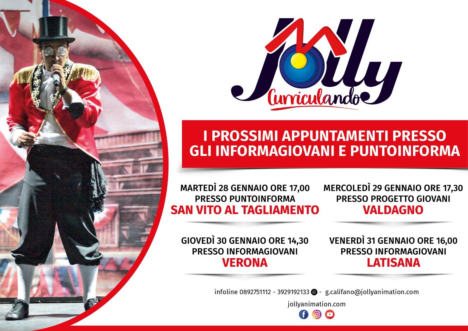 Jolly in Tour, altre 4 tappe nel Triveneto dal 28 al 31 gennaio