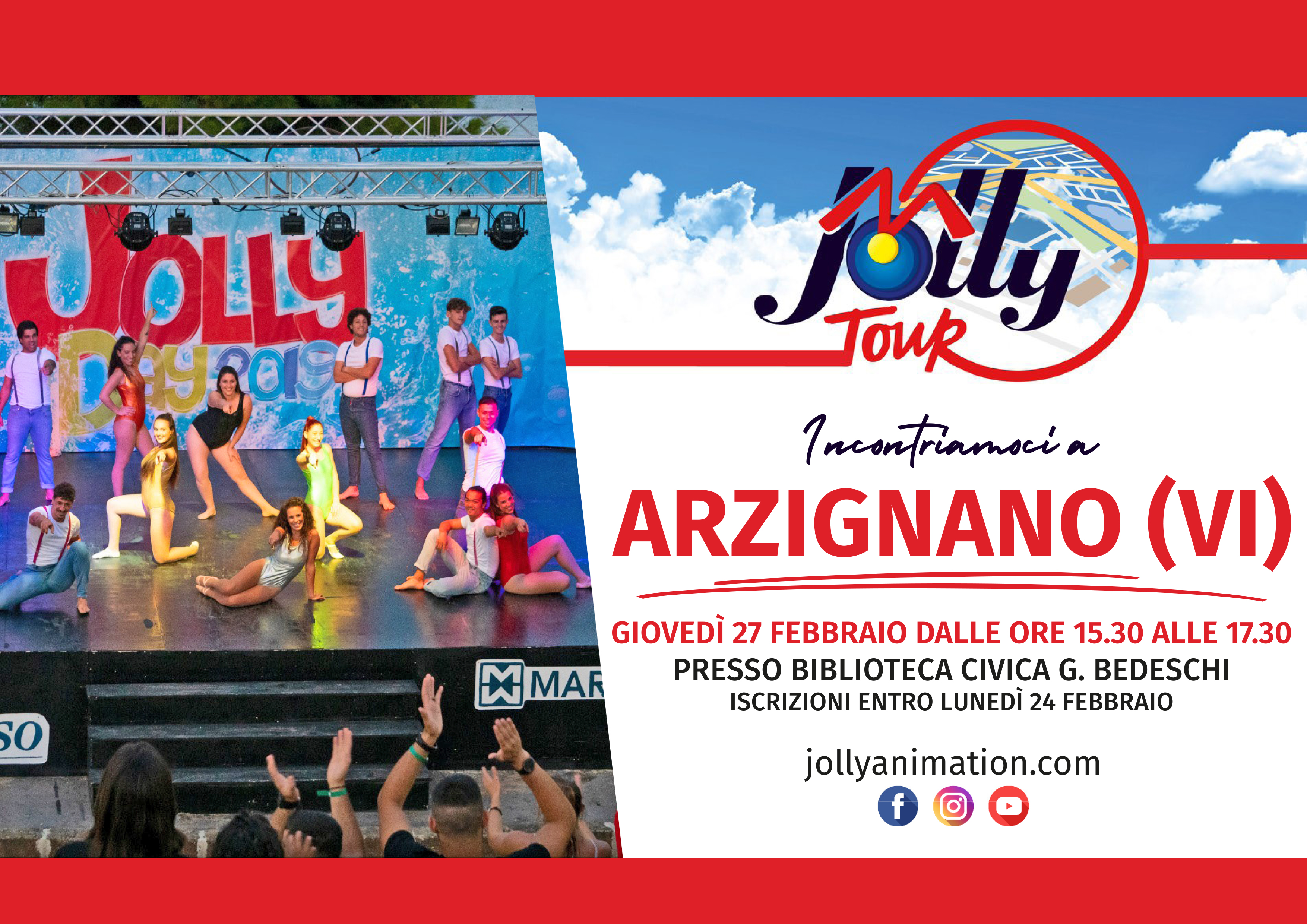 Jolly in tour, appuntamento giovedì 27 febbraio ad Arzignano