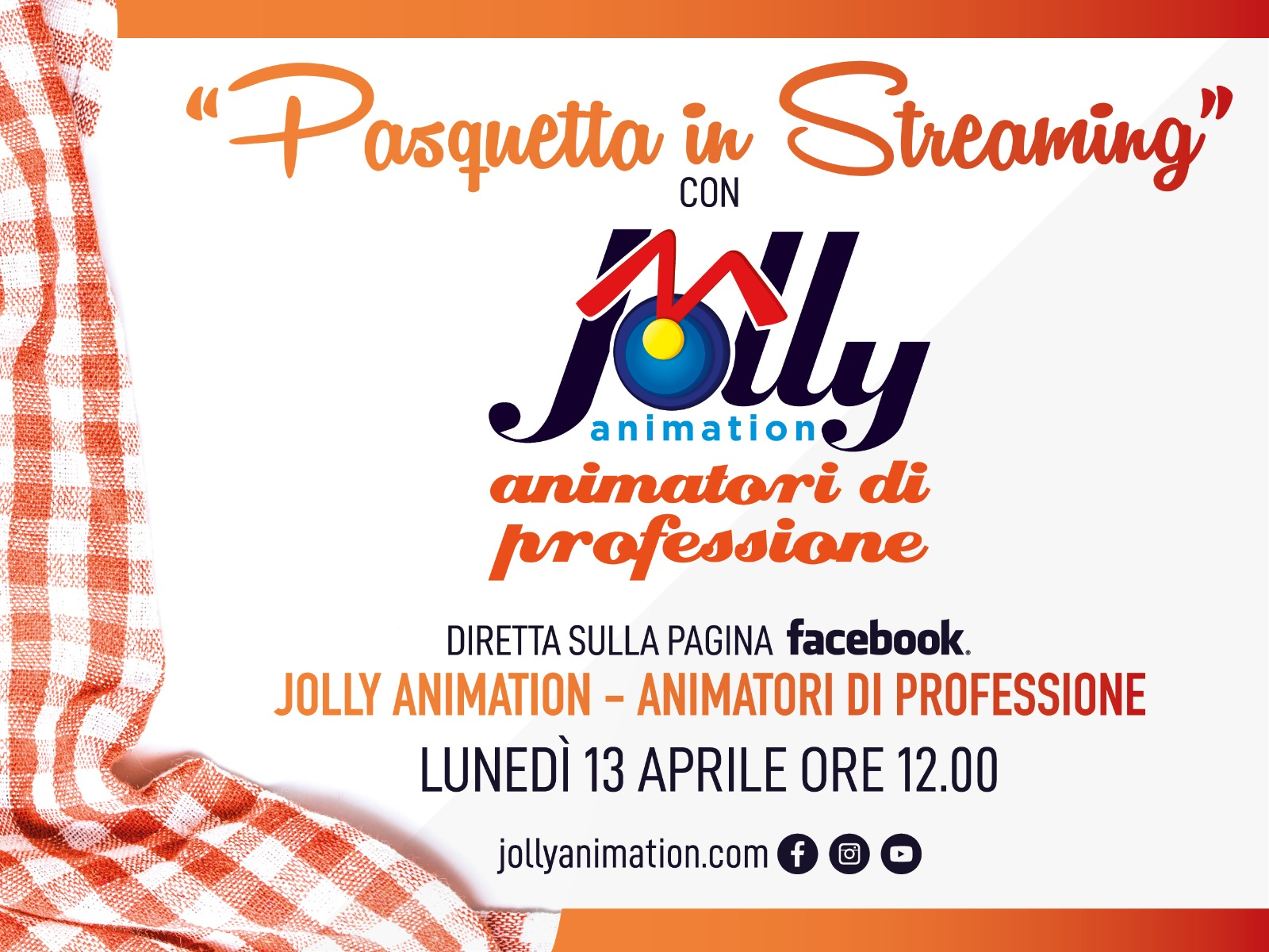 La nostra Pasquetta in diretta streaming su Facebook